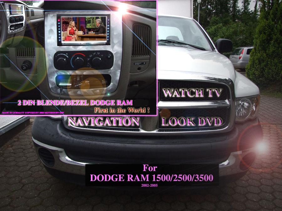 doppel din car hifi blende dodge ram truck year 2002 2005. Black Bedroom Furniture Sets. Home Design Ideas